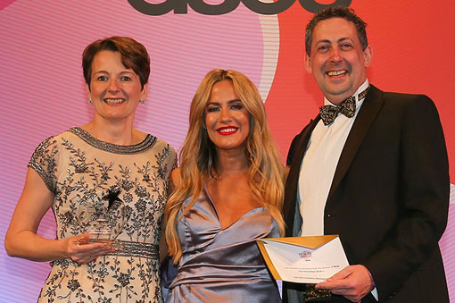 Winning at The Beauty Awards 2019 with ASOS