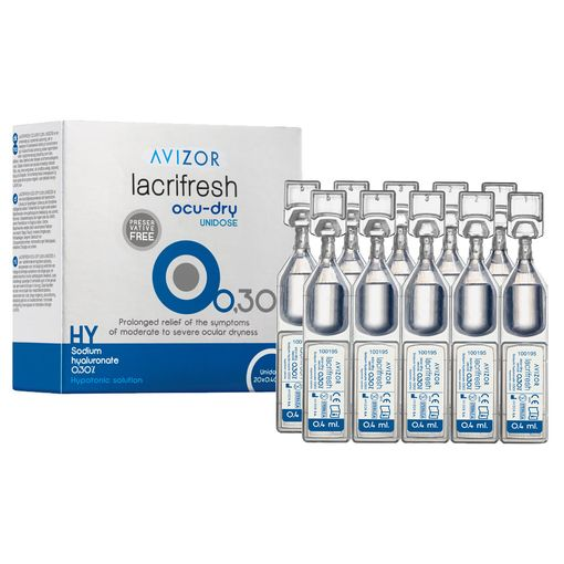 Avizor Lacrifresh Ocu-Dry 0.3% UD eye drops (vials)