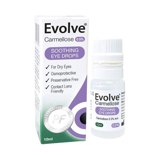 Evolve Carmellose eye drops