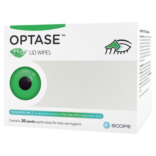 Optase TTO (Tea Tree Oil) eyelid wipes