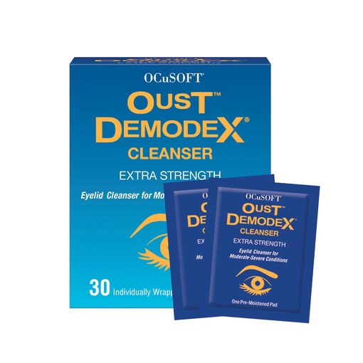 Oust Demodex cleanser (wipes)