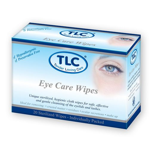 TLC Standard adult eye care wipes