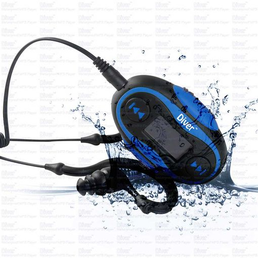 Diver 4GB waterproof MP3 Player with LCD screen