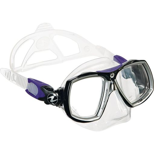 AquaLung Look 2 diving mask including prescription lenses
