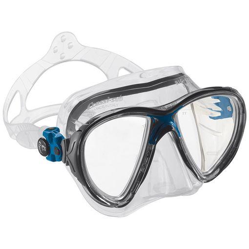 Cressi Big Eyes Evolution diving mask in Clear/BlueBlack