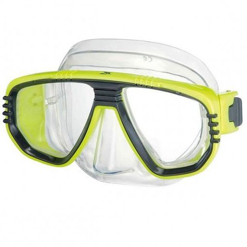 IST Corona M55 diving mask in Yellow/Clear